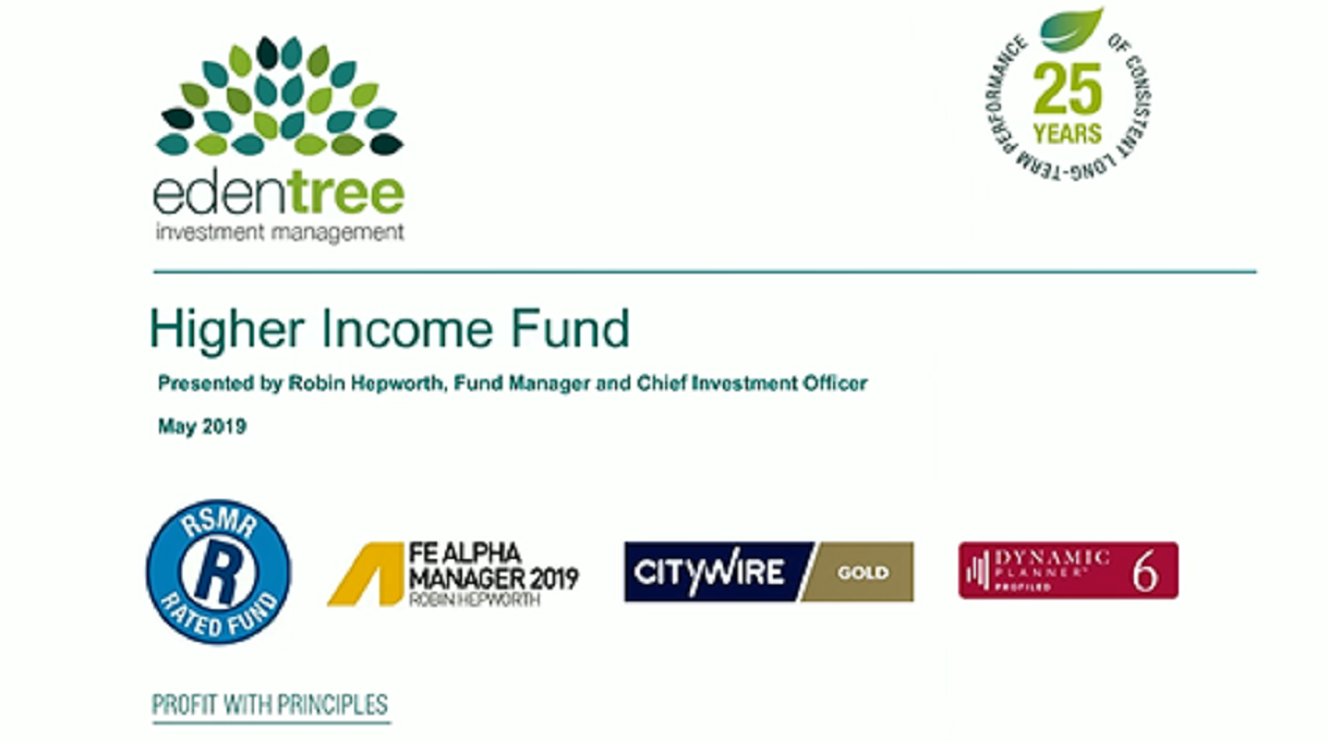 Higher Income Fund Webcast