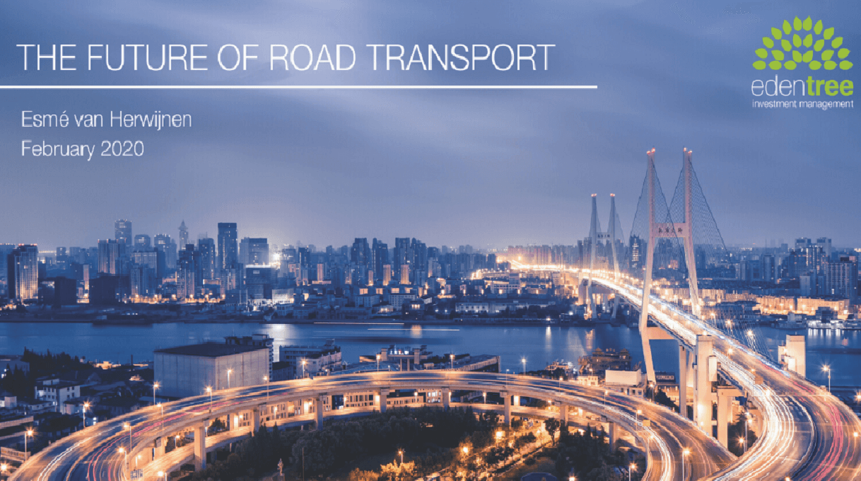 EdenTree Insight: The Future of Road Transport