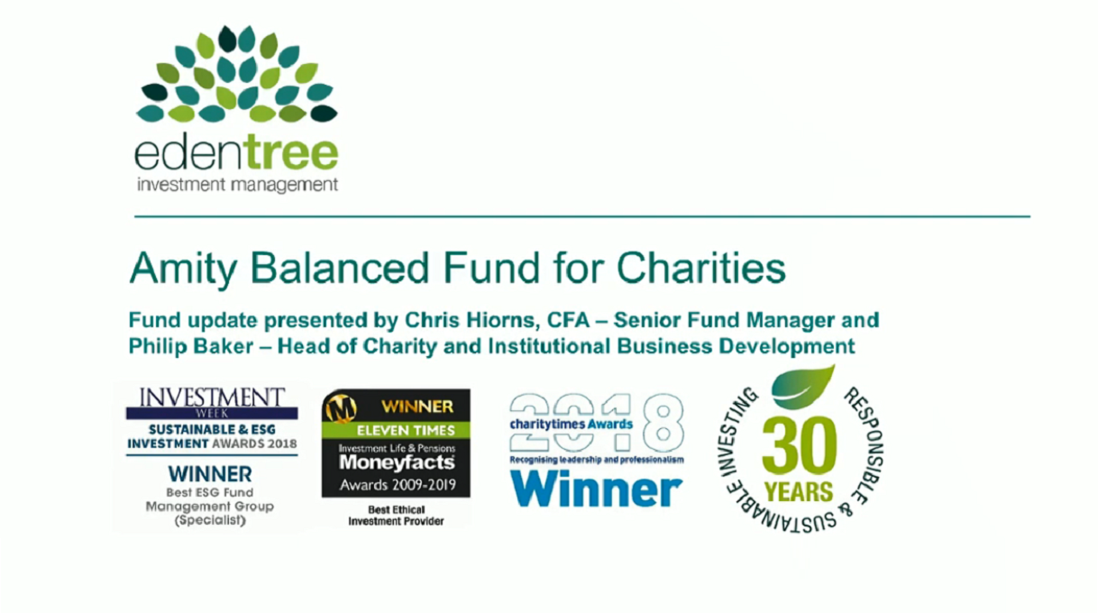 Amity Balanced Fund for Charities Update